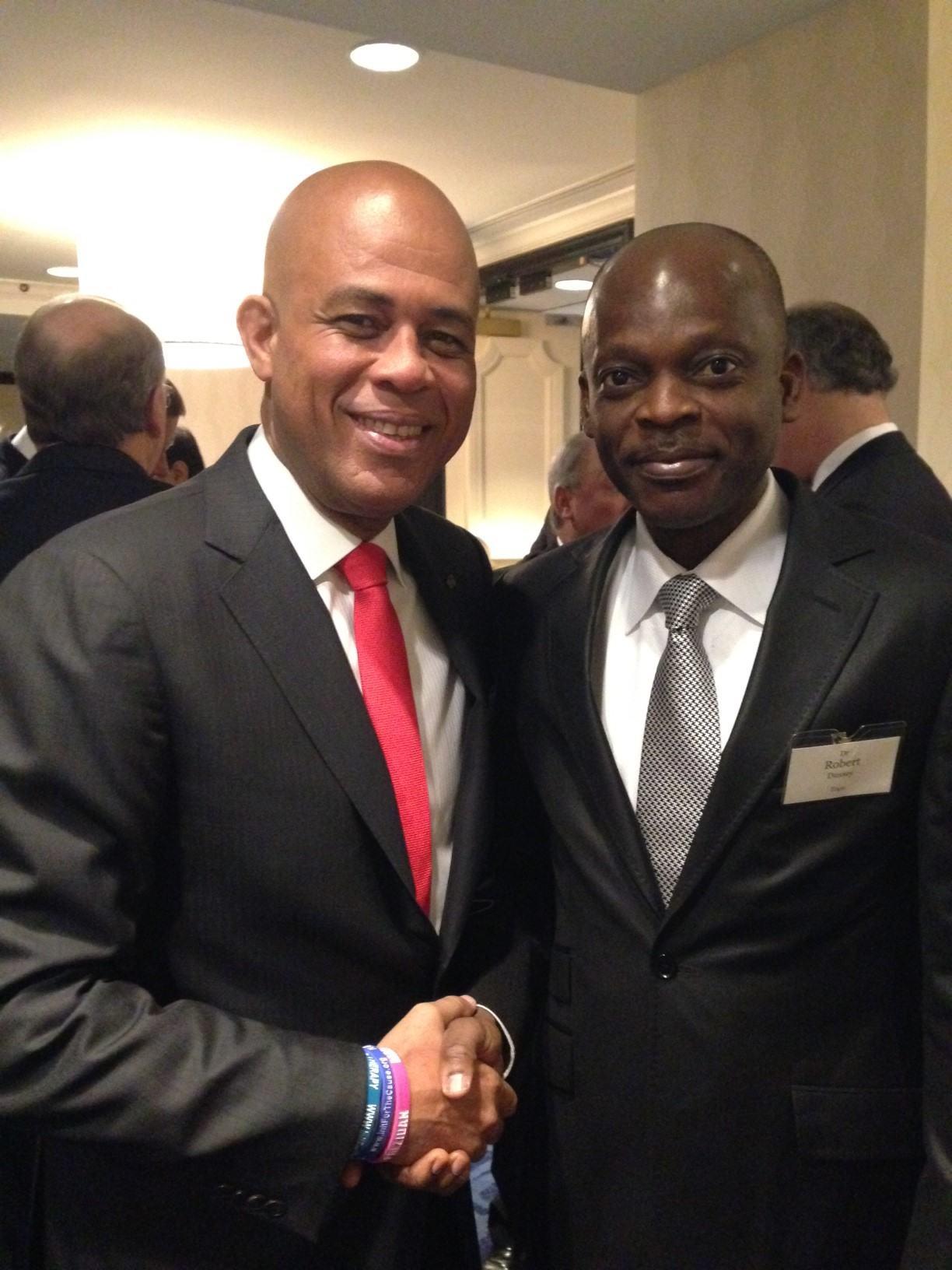 Rencontre avec le Président Haïtien Michel Marthely