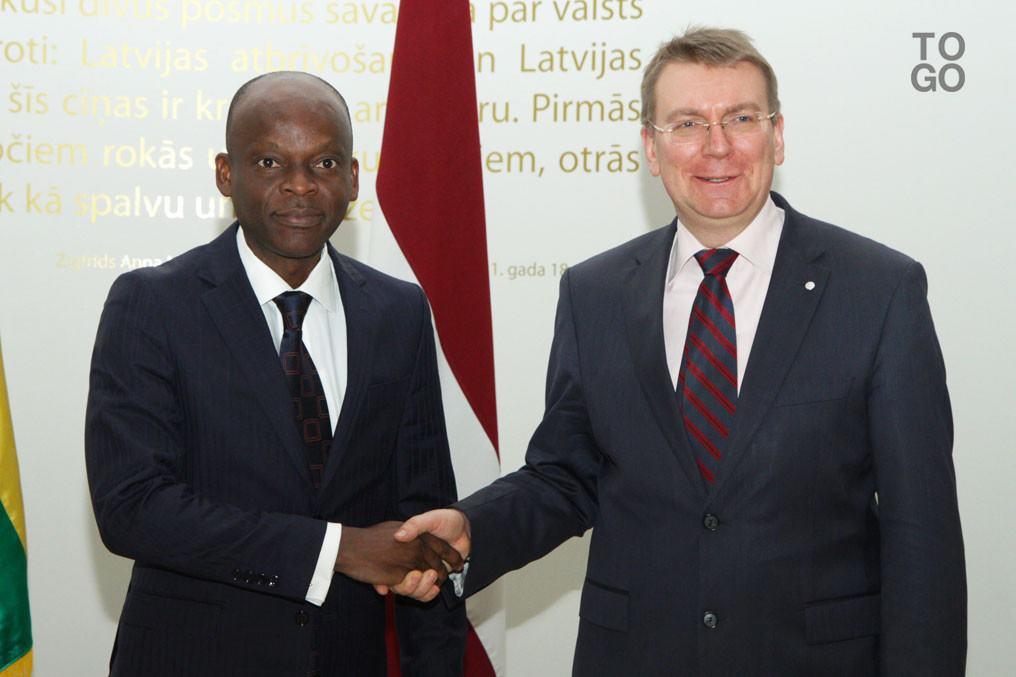Edgars Rinkevics : 'Nous sommes déterminés à développer nos relations avec le Togo'