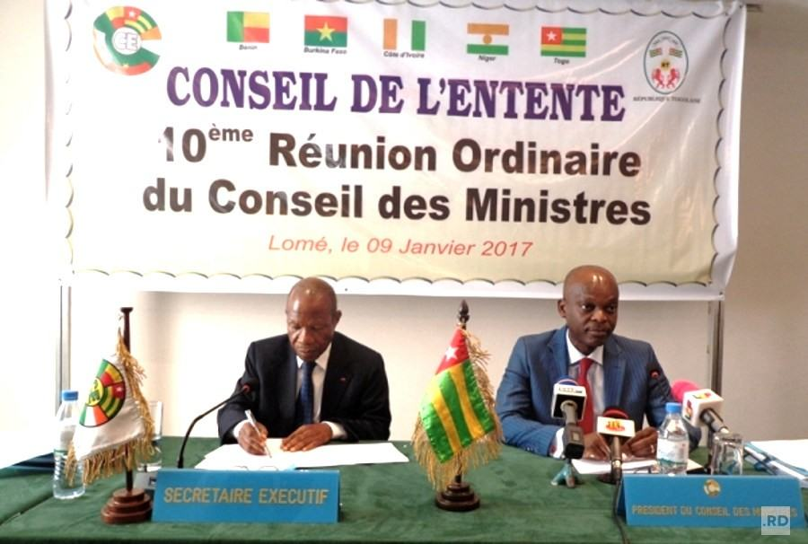 Conseil de l'Entente: approved Programme and Budget for 2017