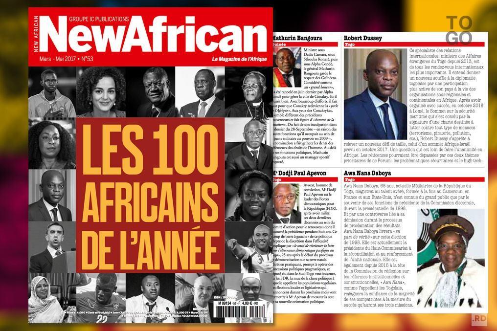 Robert Dussey parmi les 100 Africains de l'année 2016