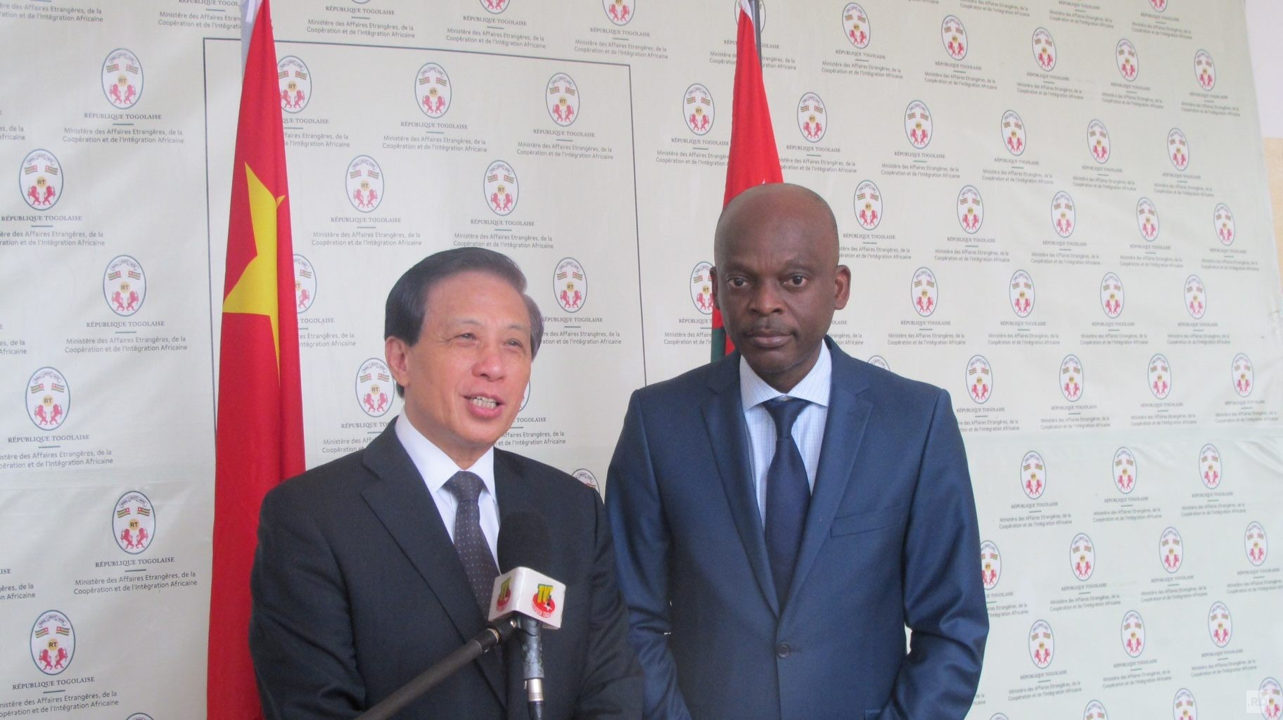 Zhang Yesui, Chinese Vice Foreign Minister in Lomé