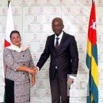 Beatrice Atallah & Robert Dussey à Lomé ce 12/06/2017